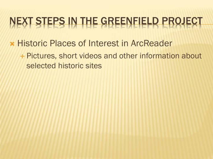 Historic Places of Interest in ArcReader