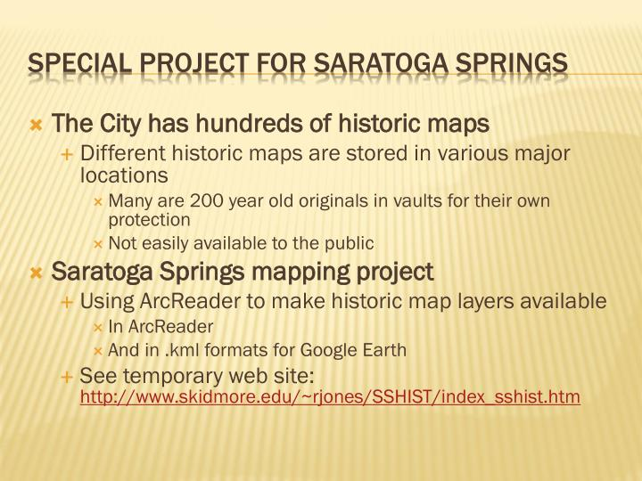 The City has hundreds of historic maps