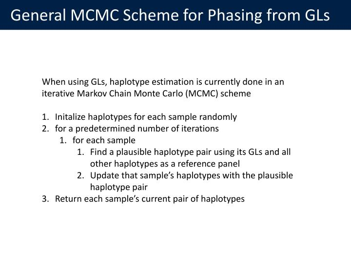 General MCMC Scheme for Phasing from GLs