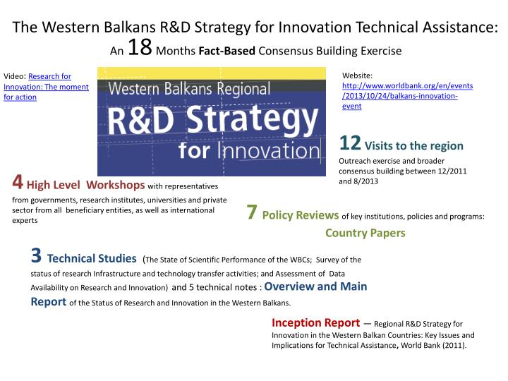 The western balkans r d strategy for innovation technical assistance