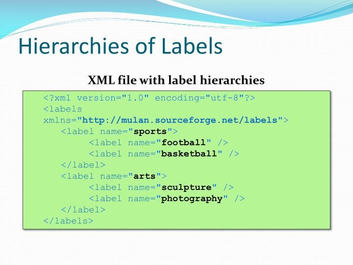 Hierarchies of Labels