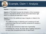 example claim 1 analysis
