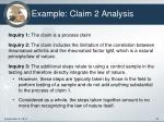 example claim 2 analysis