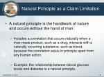 natural principle as a claim limitation