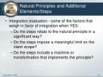 natural principles and additional elements steps1