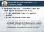 natural principles and additional elements steps2
