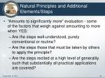natural principles and additional elements steps5