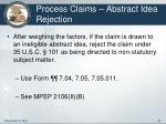 process claims abstract idea rejection