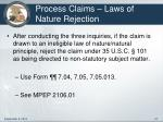 process claims laws of nature rejection