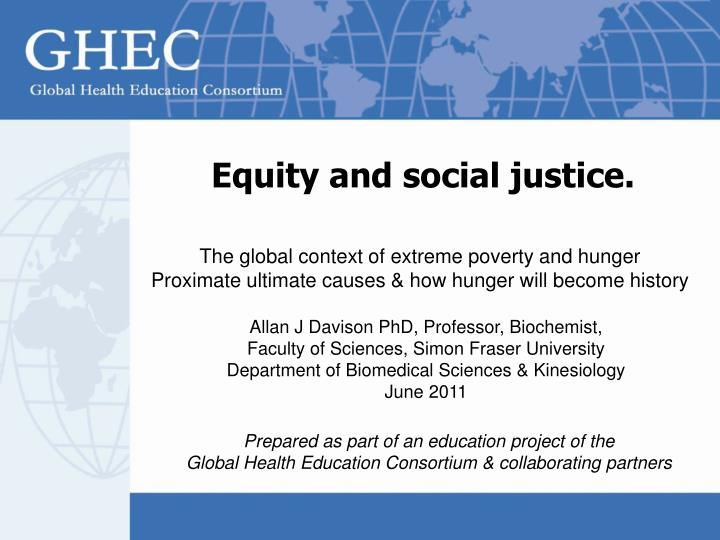 equity and social justice n.