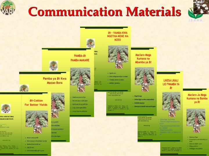 Communication Materials