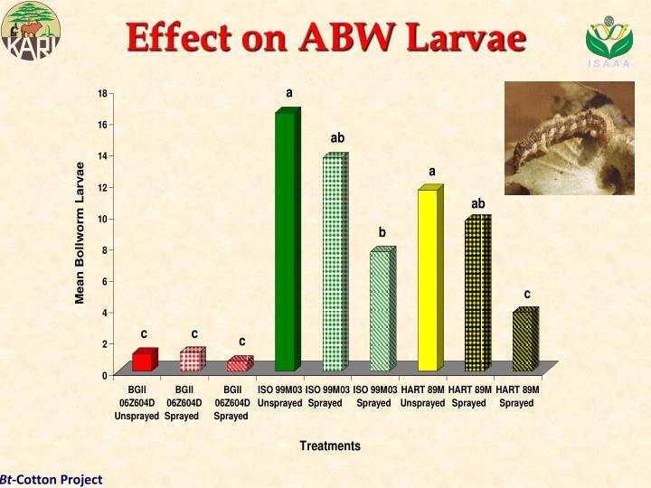 Effect on ABW Larvae