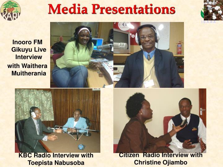 Media Presentations