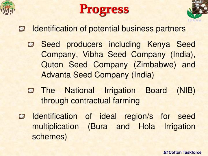 Identification of potential business partners