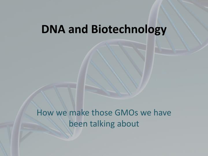dna and biotechnology n.