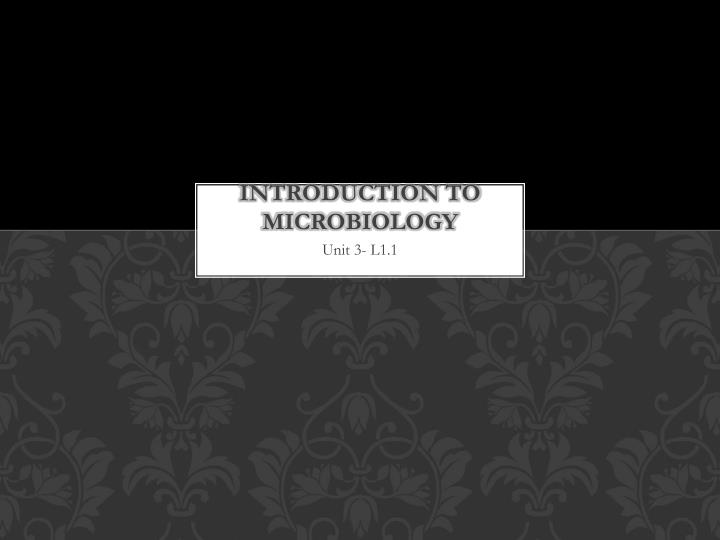 introduction to microbiology n.