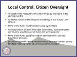 local control citizen oversight