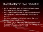 biotechnology in food production