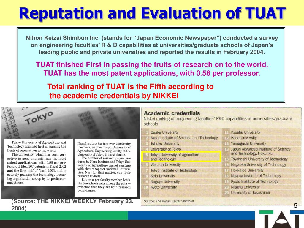 PPT - Tokyo University of Agriculture and Technology (TUAT