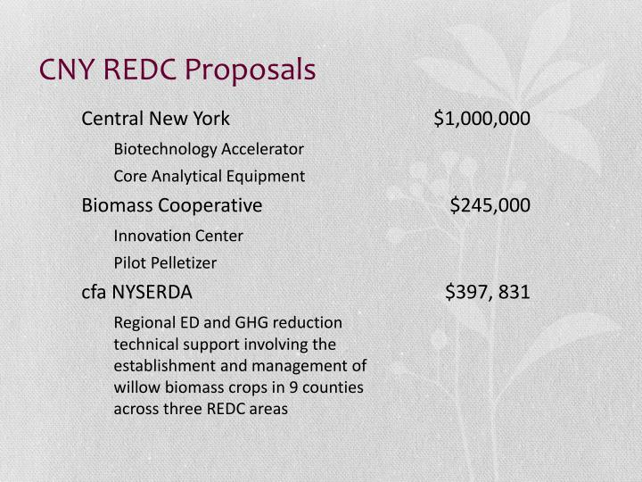 CNY REDC Proposals