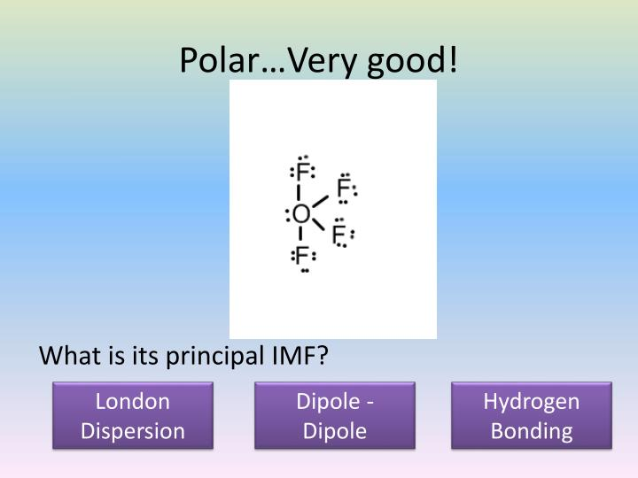 Polar…Very good!