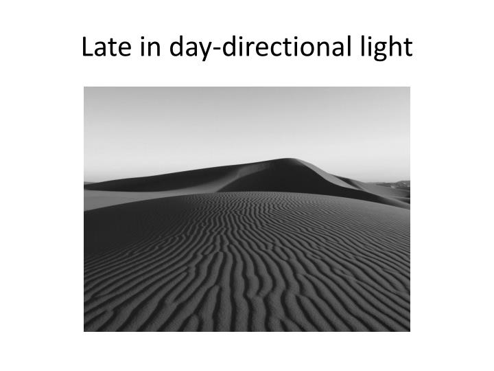 Late in day-directional light