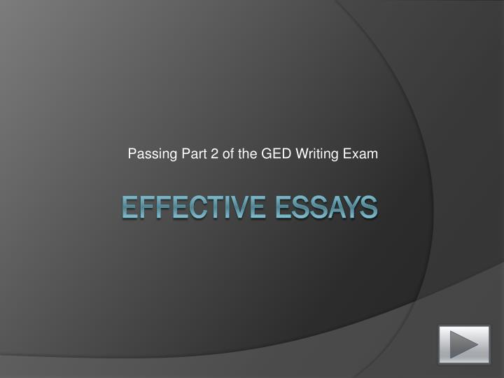 passing part 2 of the ged writing exam n.
