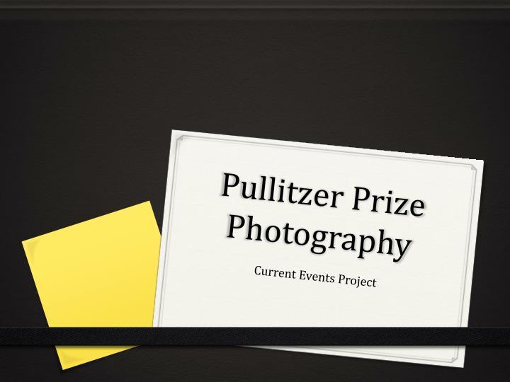 Pullitzer prize photography