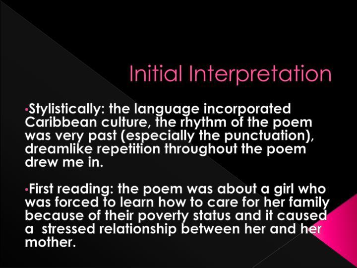 Initial Interpretation