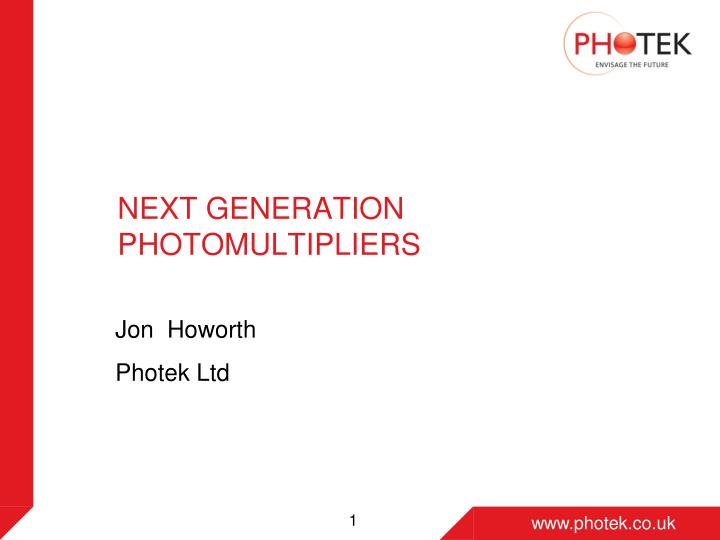 next generation photomultipliers n.