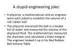 a stupid engineering joke