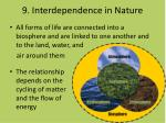 9 interdependence in nature