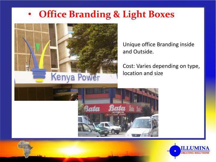 Office Branding & Light Boxes