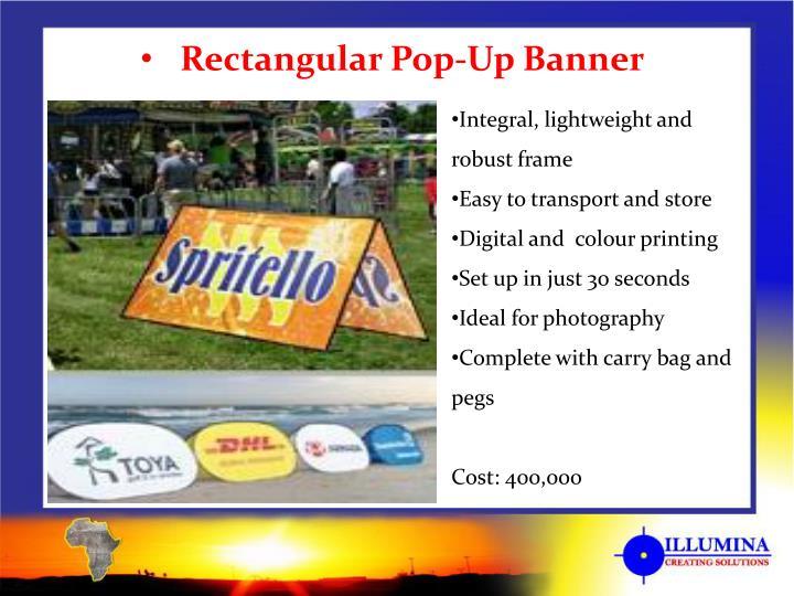 Rectangular Pop-Up Banner
