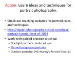 action learn ideas and techniques for portrait photography