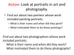 action look at portraits in art and photography