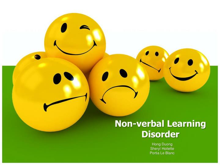 non verbal learning disorder n.