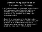 effects of rising economies on production and exhibition2