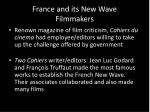 france and its new wave filmmakers