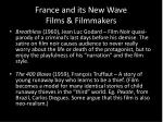 france and its new wave films filmmakers
