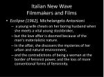 italian new wave filmmakers and films