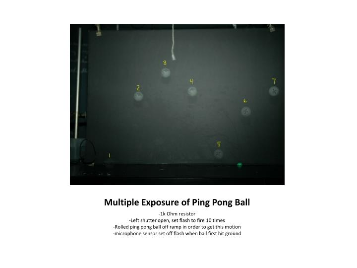 Multiple Exposure of Ping Pong Ball