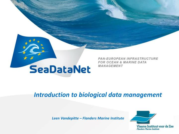 introduction to biological data management n.
