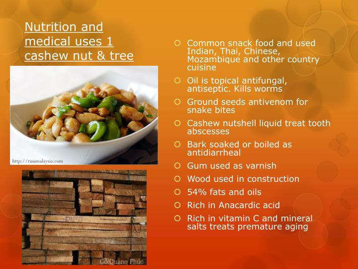 Nutrition and medical uses 1