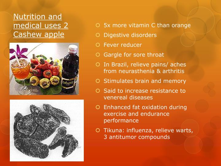 Nutrition and medical uses 2