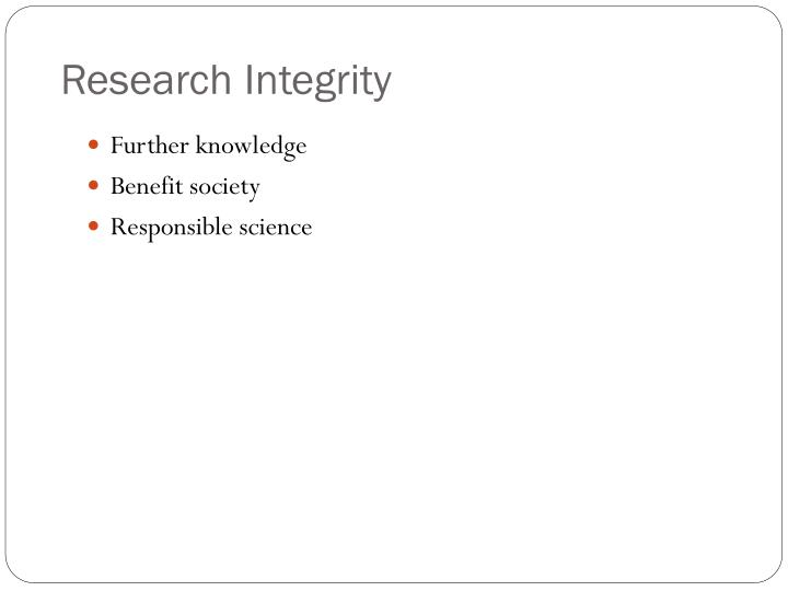 Research Integrity