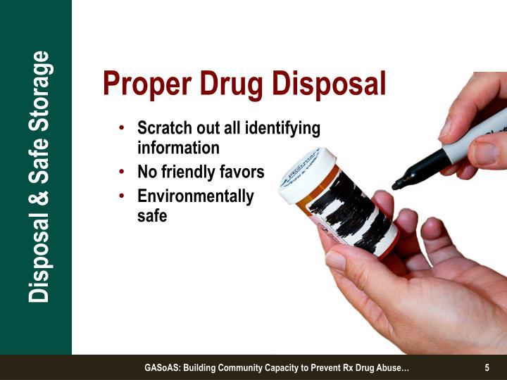 Ppt Disposal Amp Safe Storage Strategies Powerpoint