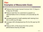 plan examples of measurable goals
