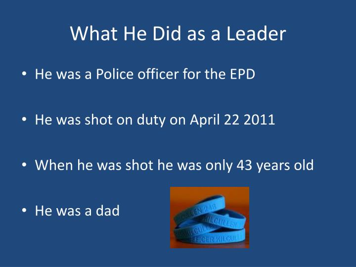 What He Did as a Leader