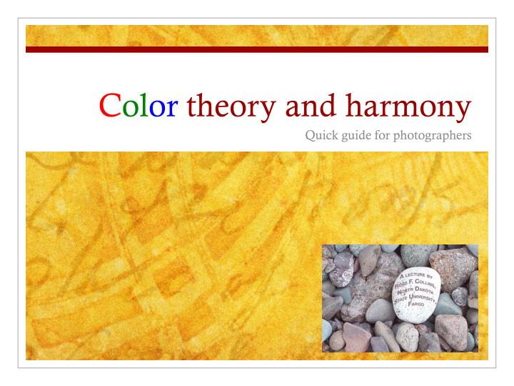 c ol or theory and harmony n.